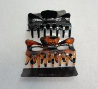 "2pc 3.5"" Claw Clips [Brown/Black]"